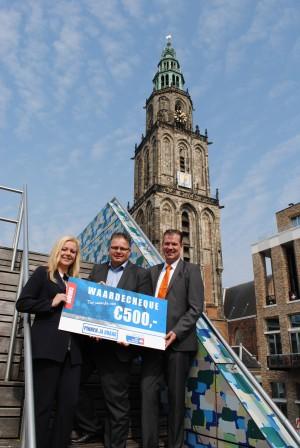 Pinnen ja graag cheque aan KWF Groningen