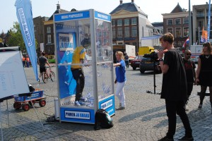 Pinnen ja graag in Groningen - prijzen winnen met windmachine